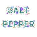 Salt and pepper lettering