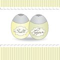 Salt and pepper shaker background romantic vector Stock Image