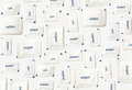 Salt, pepper and sugar sachets pattern background Royalty Free Stock Photo