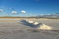 Salt piles on Salar Royalty Free Stock Photo