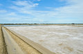 Salt pond Royalty Free Stock Photos