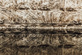 Salt rock and reflection in water surface with complicated structure texture reflected producing an almost abstract background Royalty Free Stock Images