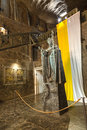 Salt sculpture depicting Pope John Paul II in the Wieliczka Salt Mine, Poland. Royalty Free Stock Images