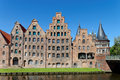 Salt storehouses luebeck the german salzspeicher which were built between the th and th centuries are historic brick buildings Royalty Free Stock Image