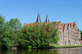 Salt storehouses luebeck the german salzspeicher which were built between the th and th centuries are historic brick buildings Stock Photography