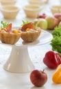 Salt tartlets with  peperoni Royalty Free Stock Photo