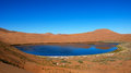 Salt water  lake in desert Stock Images