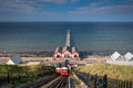 Saltburn Funicular and Pier Royalty Free Stock Photo