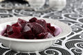 Salted pickled beet on a dish Royalty Free Stock Image