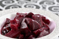Salted pickled beet on a dish Stock Image