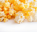 Salted popcorn grains isolate Stock Photo