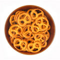 Salted pretzels in a bowl Royalty Free Stock Photos