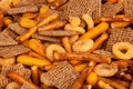 Salted Snack Mix Close up Royalty Free Stock Photo