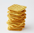 Saltine crackers Royalty Free Stock Photo