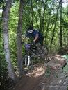 Salto 11 de la bici de montaña Imagen de archivo