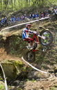 Salto do motocross Fotografia de Stock Royalty Free
