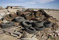 Salton Sea Trash Pile Royalty Free Stock Photos
