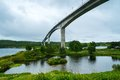 Saltstraumen bridge on norwegian county road near bodo Stock Photography