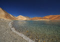 Saltwater lake the in northern india Stock Photos