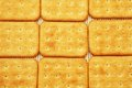 Salty crackers in square shape Royalty Free Stock Photos