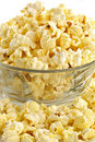 Salty popcorn Stock Images