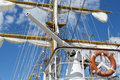 Salute cannon on the arm cuauhtémoc a sail training vessel of the mexican navy Royalty Free Stock Photography