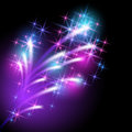 Salute glowing background with and firework Royalty Free Stock Image