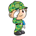 Salute to the Soldier Character Stock Images