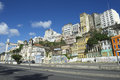 Salvador Brazil City Skyline from Cidade Baixa Royalty Free Stock Photo