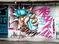 Salvador da bahia graffiti são de todos os santos and known as or is the largest city and the third largest urban Stock Image