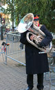 Salvation Army band member. Stock Image