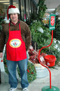 Salvation army bell ringer seattle wa circa december arm accepting donations during the christmas holidays Royalty Free Stock Image