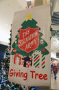 Salvation army christmas the giving tree sign in tacoma washington mall friday november this was the launch of the giving tree for Stock Photography