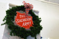 Salvation army christmas the sign in tacoma washington mall friday november this was the launch of the giving tree for the Stock Photo