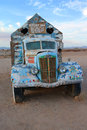Salvation mountain vehicle a close up image of one of the vehicles at the site of found east of niland california on the east side Royalty Free Stock Photo