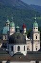 Salzburd domes Royalty Free Stock Photos