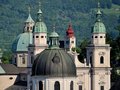 Salzburd domes Stock Image