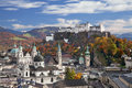 Salzburg austria image of during sunny autumn day Stock Image