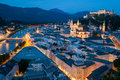 Salzburg at Night Royalty Free Stock Photo