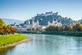 Salzburg skyline with Fortress in summer, Salzburger Land, Austria