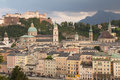 Salzburg at sunset Stock Photography