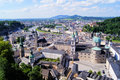 Salzburg view aerial over the old town of austria Stock Image