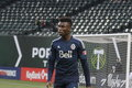 Sam adekugbe defender for the vancouver whitecaps at providence park february Stock Photo
