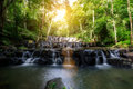 Sam Lan Waterfall is beautiful waterfall in tropical forest, Saraburi province, Thailand. Royalty Free Stock Photo