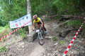 Sam ngao tak thailand august bhumibol dam international unidentified riders started out from the start as a mountain bike race on Royalty Free Stock Photography