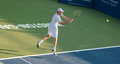 Sam querrey plays center court at the winston salem open in winston salem nc Royalty Free Stock Image
