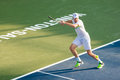 Sam querrey plays center court at the winston salem open in winston salem nc Stock Photography