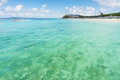 Samae beach clear water and nice sky at on kohlan pattaya thailand Stock Photos