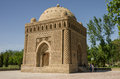 The Samanid mausoleum in the Park, Bukhara, Uzbekistan. UNESCO w Royalty Free Stock Photo