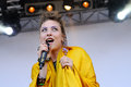 Samantha urbani singer of the american band friends performs at san miguel primavera sound festival barcelona spain may on may in Stock Image